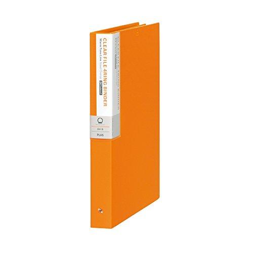 プラス クリアファイル A4縦 4穴 24P 背幅35mm デジャヴ 89-405 ネーブルオレンジ