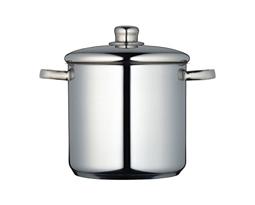 Picture of MasterClass MCSTPOT20 Induction-Safe Stainless Steel Stock Pot with Lid, 5.5 Litre, Silver