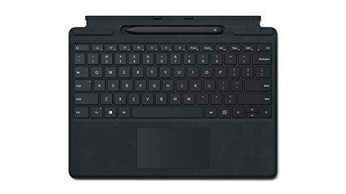 Microsoft Surface Pro X Signature Keyboard im Bundle mit Slim Pen Schwarz (QWERTZ Keyboard)