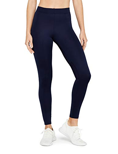 Marca Amazon - AURIQUE Mallas Largas de Deporte Mujer, Azul (Navy), 38, Label:S