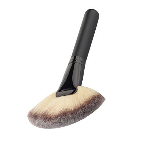 Gran Ventilador De Nylon Cara Cabello Mezclando Polvo De La Fundación Pincel De Maquillaje Cosmético