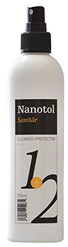 Sanitairreiniger met lotuseffect - douchecabines verzegeling - nanotol sanitair 2in1 - reiniging & nano-verzegeling voor douche, badkamerkeramiek, armaturen - incl. kalkverwijderaar