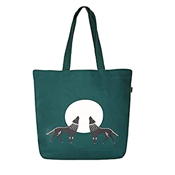 EcoRight Large Canvas Tote Bags for Women with Zipper | Shopping Bag for Grocery, Travel, Beach | Shoulder Handbags for Women, College Bags for Girls Stylish Trendy