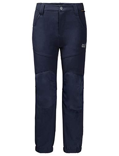 Jack Wolfskin Kinder RASCAL WINTER PANTS KIDS elastische Softshellhose, midnight blue, 92