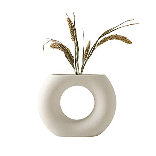 Jarrón de cerámica para decoración del hogar moderno y sencillo