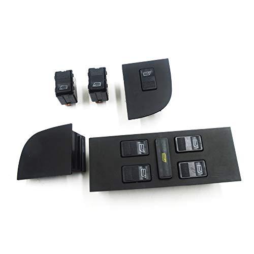 Piaobaige Interruptor De Control De Elevalunas Eléctrico Eléctrico para Audi Quttro Coupe A6 80 90100200 Cabriolet 1987 1998 Oe: 893959855 893959859A