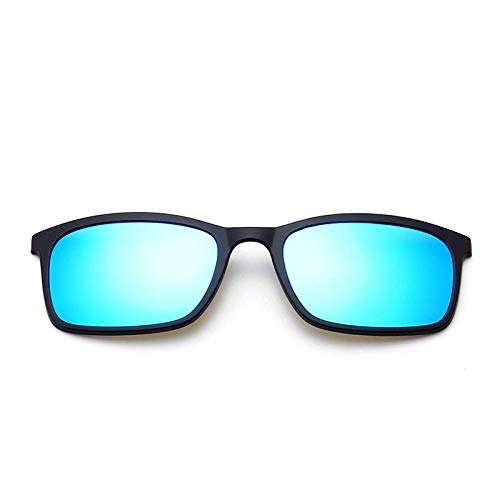 NIUASH Sonnenbrille polarisiert Polarisierte Sonnenbrille Männer Frauen Magnetclip auf Brille TR90 Optische Cat Eye Brille Full Frame Treiberbrille-A
