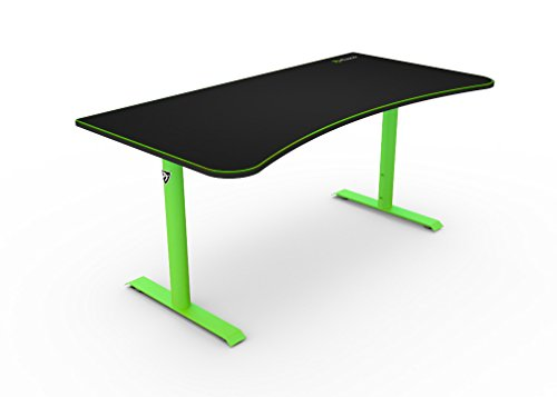 Arozzi Arena Gaming Desk, Metal, 160x80x80 cm - Green