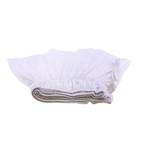 Einfarbige Bettvolant Bettdecke mit Rock, Weiche Bettrock für Schlafzimmer - Weiß, 180cmx200cm + 38cm