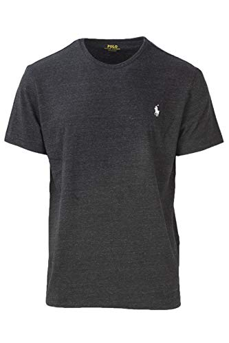 RALPH LAUREN T-Shirt HERREN TEE SHIRT CLASSIC FIT MELANGE RLNM1000 m anthrazit