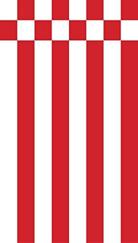 Netflags Drapeau de Brême sans armoiries, Speck Drapeau, Drapeau allemand en maille polyester 110 g/m², 300 x 120 cm mit Hohlsaum