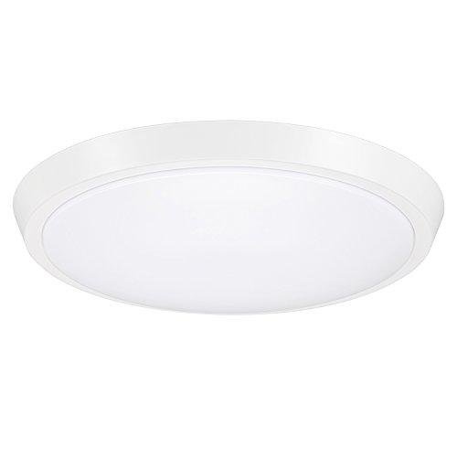 GetInLight 13 Inch Flush Mount LED Ceiling Light with ETL Listed, Soft White 3000K, Matte White Finish, IN-0302-5-WH