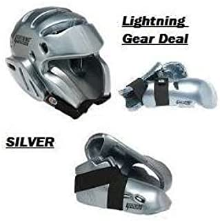 Lightning Silver Karate Sparring Gear Package Deal - Child Medium