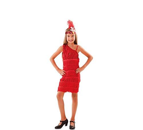 EUROCARNAVALES Disfraz de Charlestón Rojo para niña
