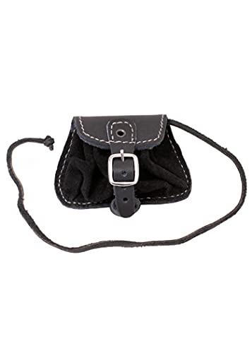 Gürteltasche klein Umhängetasche LARP Gürteltasche Hüfttasche Schwarz oder Braun (Schwarz) - 2