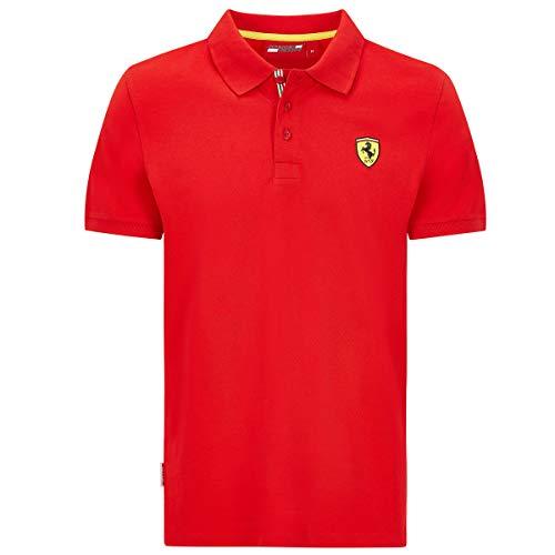 Ferrari Scuderia Herren Poloshirt F1, klassisch, Schwarz/Rot, Herren, rot, Medium