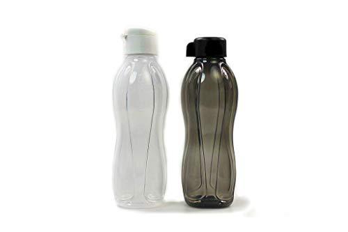 Tupperware to Go Eco - Tapa de clip (1,0 L), color blanco y negro