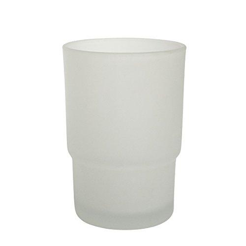 Ambiente Badserie Ersatzglas für Zahnputzbecherhalter aus satiniertem Glas