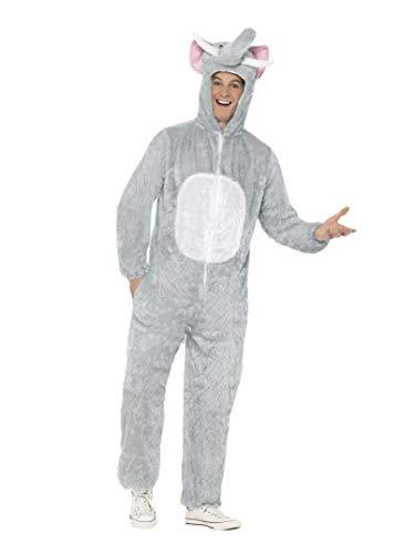 Smiffys Disfraz de Elefante, Gris, Incluye Enterizo con Capucha