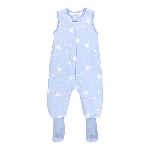 TupTam Saco de Dormir con Pies de Invierno para Bebés, Blanco Estrellas/Azul, 104-110
