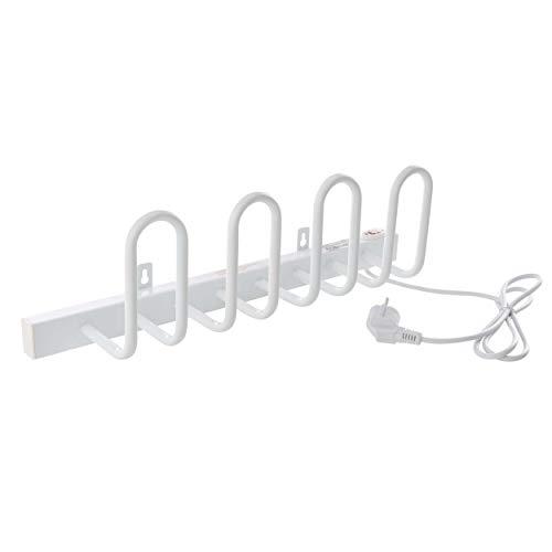 VILSTEIN Elektrischer Schuhtrockner, Schuhaufhänger, Handschuhtrockner für 2 Paar Schuhe, 520 x 130 mm, Wandmontage, Weiß