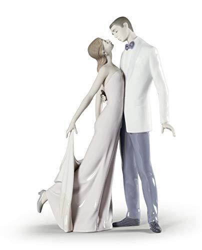 LLADRÓ Happy Anniversary Couple Figurine. Porcelain Anniversary Figure.