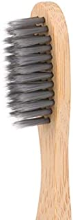 EcoBuddy Adult Bamboo Toothbrush, Soft Charcoal Infused Bristles