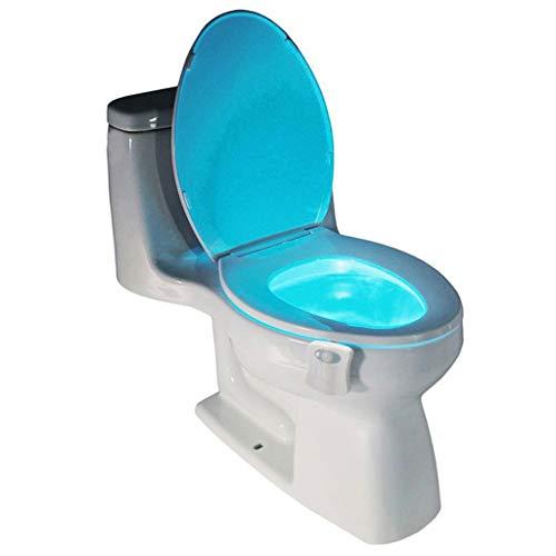 3D LED WC Licht Nachtlicht 1 Stücke PIR Bewegungsmelder Toilettensitz LED Lampe 8 Farben Auto Change Infrarot Induktionslicht Schüssel für Badezimmer Beleuchtung -Spezial- & Stimmungsbeleuchtung
