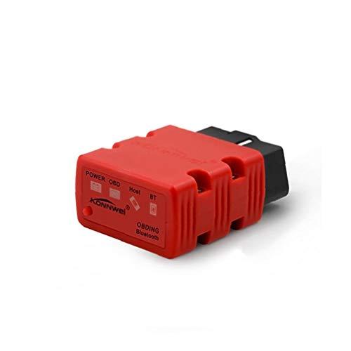 Herramientas Kw902 Inalámbrico Mini Elm327 Obd-ii Obd2 Exploración De Diagnóstico Auto Del Coche De Bluetooth Compatible Con Android Y Pc Con Windows Red