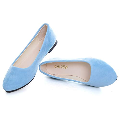 Top 10 best selling list for womens light blue flat shoes