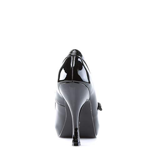 Pleaser PinUp Couture CUTIEPIE-02 Damen Pumps, Schwarz (Blk pat), EU 37 (UK 4) (US 7) - 4