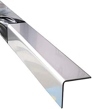 Edelstahl Winkel 1500 mm V2A blank Eckschutz 150 cm lang 50x30x1,0 mm