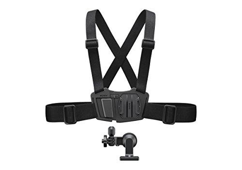 Sony AKA-CMH1 gordelhouder (accessoires borstmand bevestiging, geschikt voor Action Cam FDR-X3000, FDR-X1000, HDR-AS300, HDR-AS200, HDR-AS50) zwart