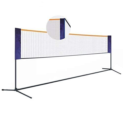 Netze & Garnituren Badminton Badmintonnetz tragbar Heimsport- und Fitnessgeräte einfaches Klappnetzregal Tennisregal einfache Installation (Color : Black, Size : 420 * 155cm)