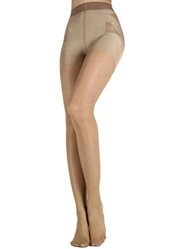 WOOTI Panty con Braga tipo faja efcto Push-up CONTADINA 20 den, color Marrón, talla S, Elegante, Atractivo, Cómodo, resistente, contenitivo, Velado, Refinado 🔥