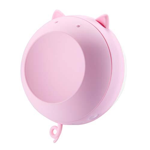 AIZYR Réchauffeur De Main/Miroir De Voyage 2 en 1, Miroir De Maquillage Portatif pour Le Réchauffeur De Main 6000Mah avec Lumière De Remplissage USB 5V 2A 220G / 0.48Lb,Pink