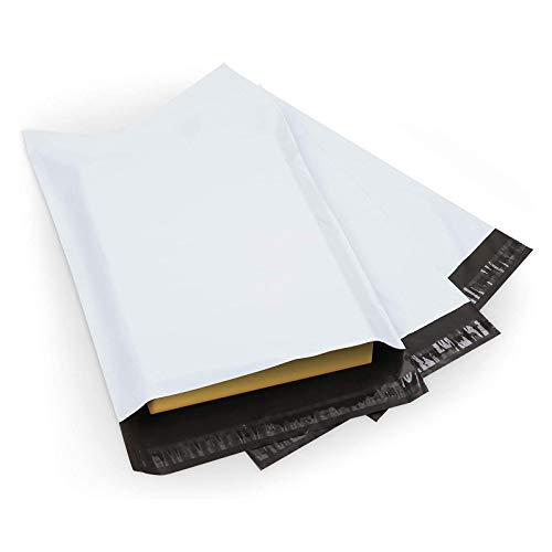 100 Piezas Envío de Plástico Blanco, Sellar Bolsas de Correo, Bolsas Postales Bolsas de Embalaje, Bolsas de Paquetes Postales, Bolsas Postales Con Autocierre para Empaquetar Varios Paquetes