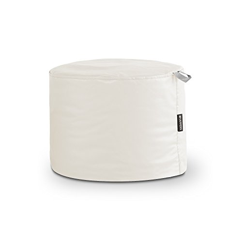 HAPPERS Puff Taburete Polipiel Outdoor Blanco