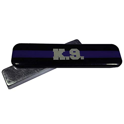 Thin Blue Stripe K9 Police Officer Mourning Band Magnetic for Cloth Embroidered Badge