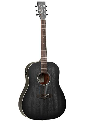 Tanglewood TWBBSDE Blackbird Dreadnought Elektroakustische Gitarre – Smokestack Black Satin