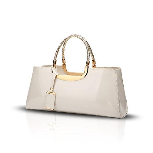 Tisdaini Donna Borse a mano vernice moda Borse a spalla Borse a tracolla Borse Tote borse desigual Bianca