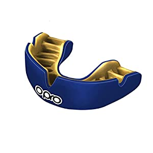OPRO Power-Fit Adult Mouthguard – Custom Fit Gum Shield for Rugby, Hockey, MMA, Contact Sports – Dental Warranty, Dual Layer Outer Shell, Anatomical Fins, Inter Jaw Absorption Technology by Opro