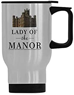 LADY OF THE MANOR Travel Coffee Mug Stainless Steel Insulated Vacuum Insulated Thermos King Vacuum Cup 14 OZ