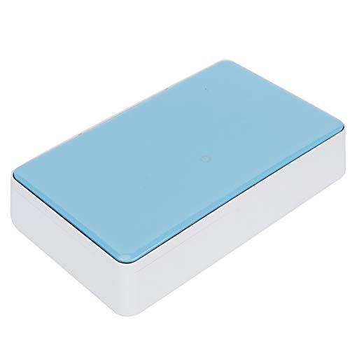 Emoshayoga Limpiador Ultravioleta Limpieza Aromaterapia Caja UV Caja de Limpieza UV USB para casa de teléfono móvil(Blue)