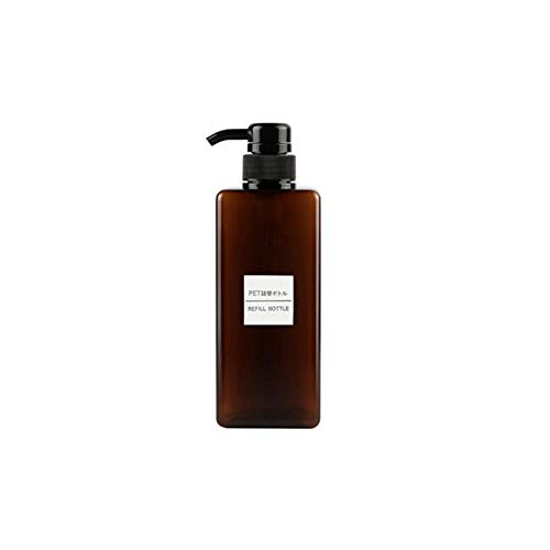 lhmlyl Blumensprüher650ml Dropship Plastic Leerer Pumpspender Flasche Haar Beauty Shampoo Lotion Duschgel Reise Nachfüllbare Flaschen Behälter-650 ml_braun_Plastik