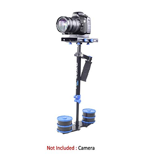 "FLYCAM DSLR Nano Blue 22.5""/57cm Mini Handheld Stabilizer Small Steadycam for DSLR Video Cameras up to 1.5kg/3.3lb | Free Quick Release & Storage Bag (DSLR-Nano-QR-BL)"