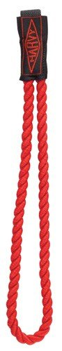 Twisted Rope Wrist Straps with Elastic Band for Walking Canes in Red