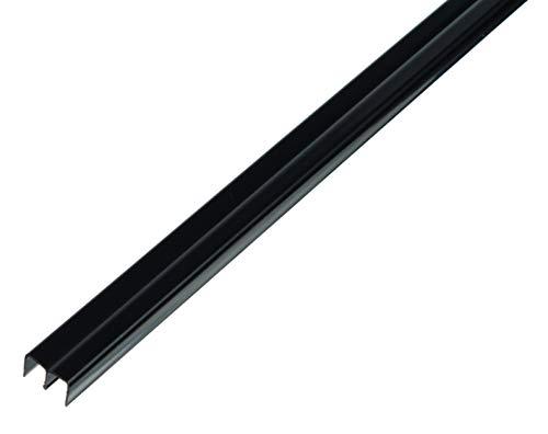 GAH-Alberts 485139 Führungsschienenprofil oben | Kunststoff, schwarz | 1000 x 18 x 10 mm