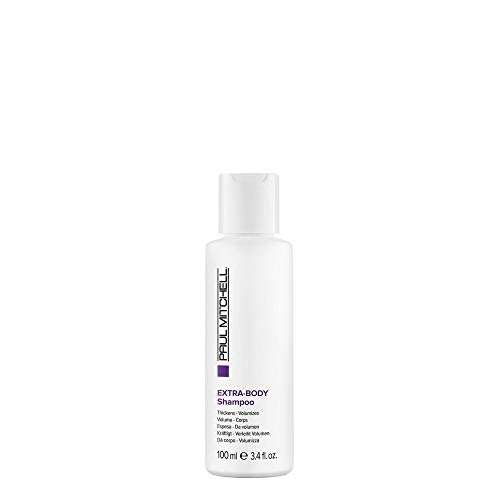 Paul Mitchell Extra-Body Shampoo - Volumen-Shampoo für normales bis feines Haar, stärkende Hair-Care mit Panthenol für Geschmeidigkeit, 100 ml
