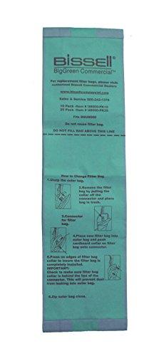 Bissell U8000-PK10 BigGreen Commercial Vacuum Bags Brown